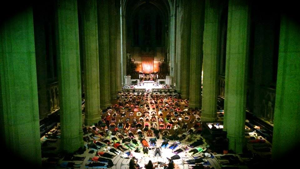 Live Acoustic Folk Music at Grace Cathedral for Yoga on the